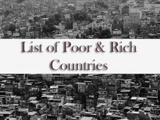 list of poor rich countires