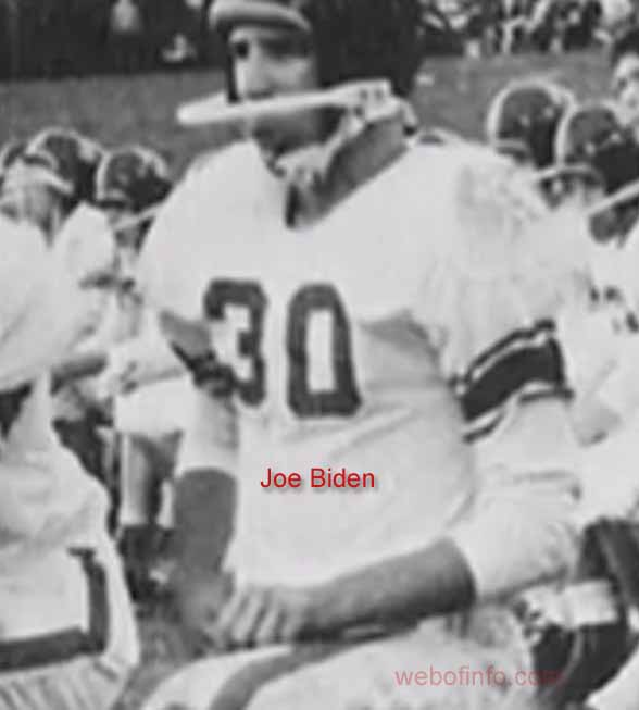 Joe Biden football playing