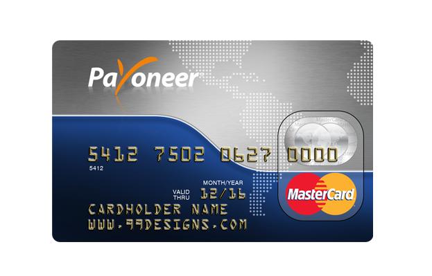 Master visa card payoneer