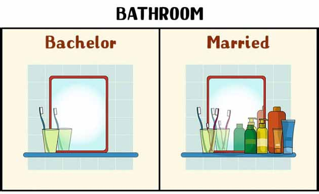 bathroom bachelor and married