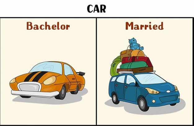 travel after marriage funny