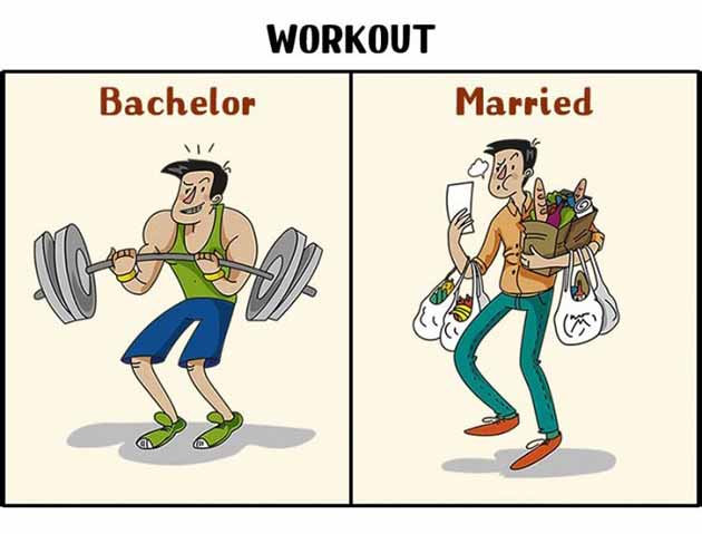 workout before after marriage
