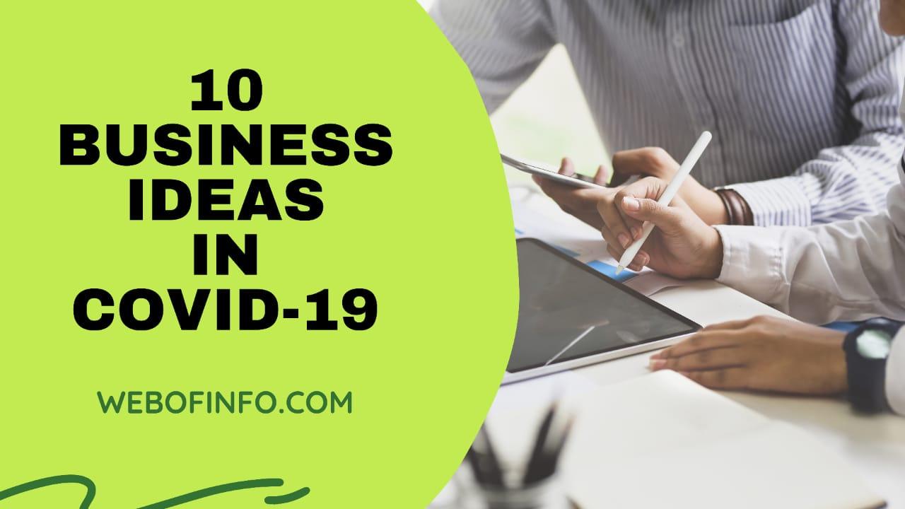 10 business ideas in covid-19