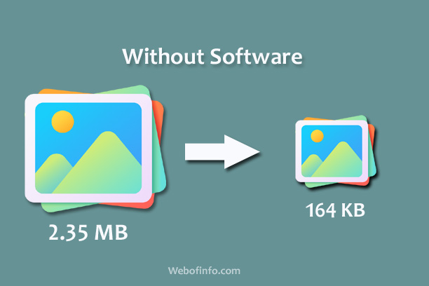 Reduce Image size without any Software