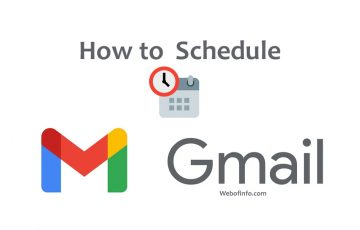 How to schedule gmail
