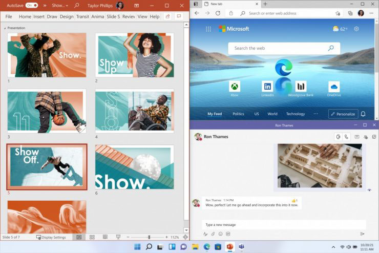 Snap Layouts in win 11