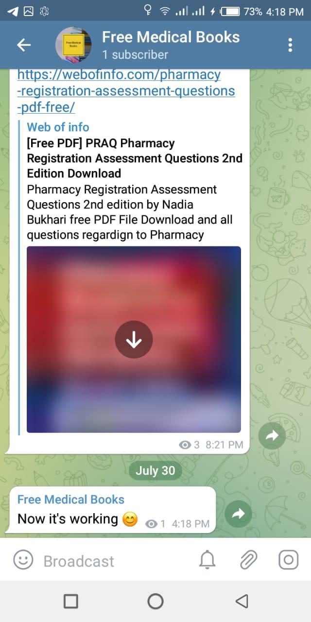 telegram now working