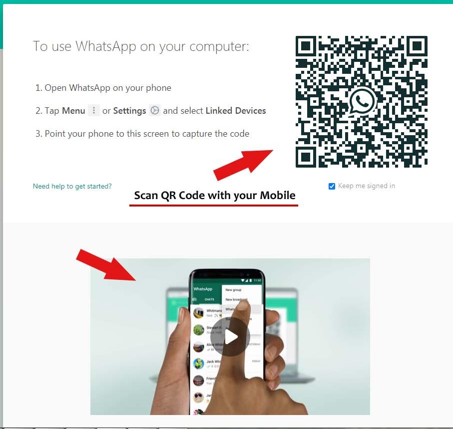 web whatsapp qr scan method