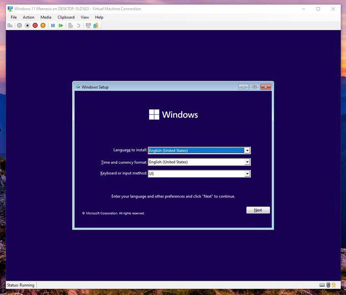 windows 11 installation process 1